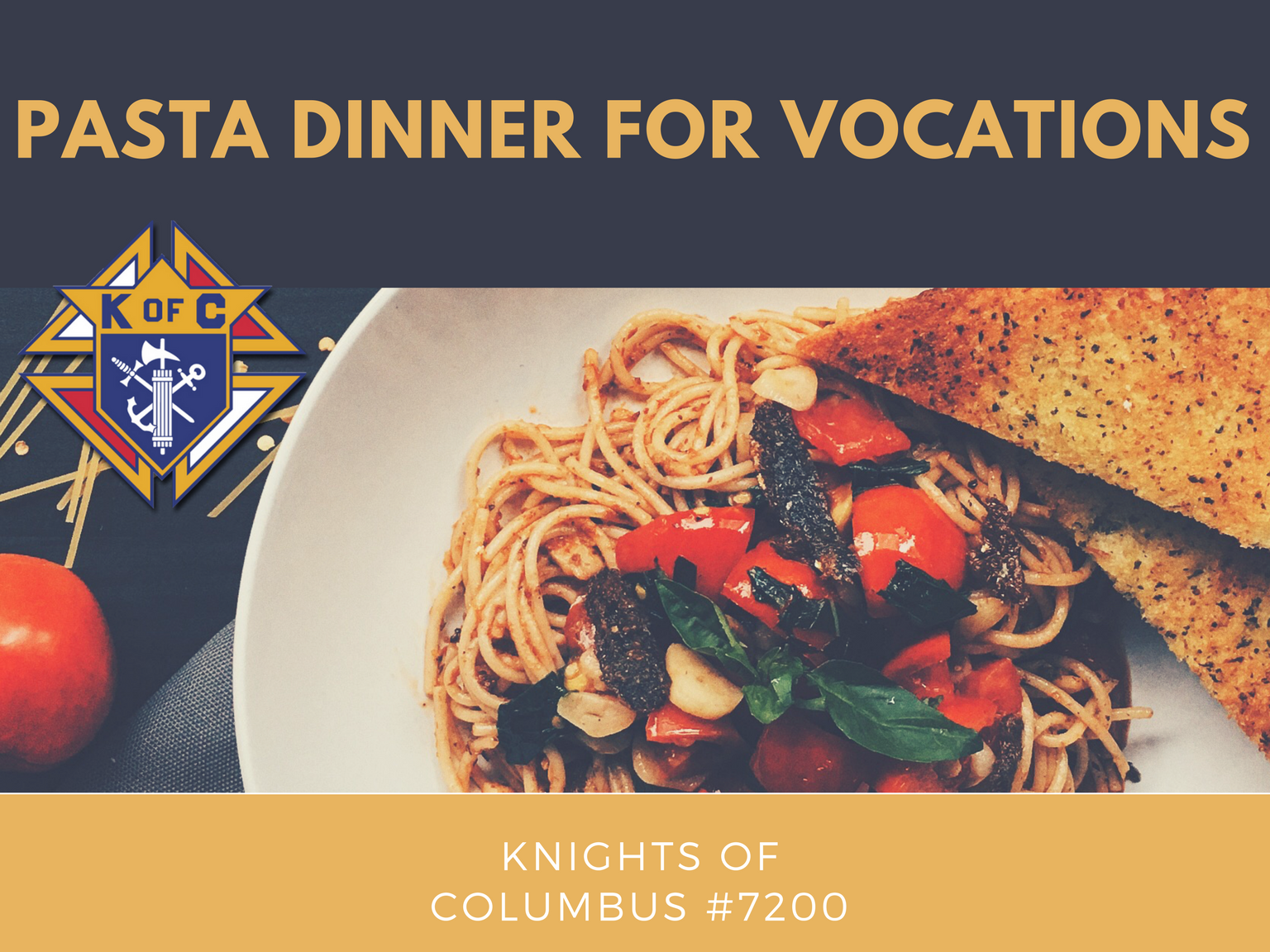 Pasta Dinner for Vocations