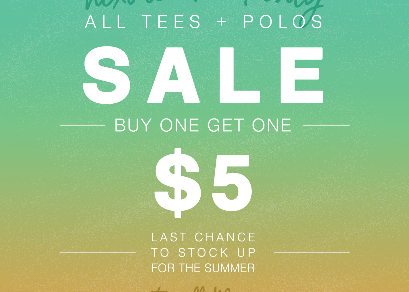 Apparel Store – End of the Summer Sale