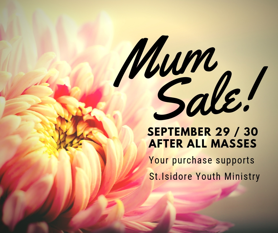 Youth Ministry mum sale